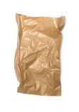 Crumpled paper bag with grease spots Royalty Free Stock Image