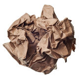 Crumpled paper ball Stock Image