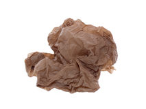 Crumpled paper ball. Isolated on a white background Stock Photo