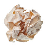Crumpled paper ball. Isolated on a white background stock images