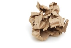 A crumpled paper ball. In recycling part Royalty Free Stock Image