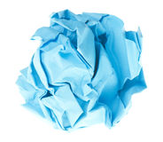 Crumpled paper ball Stock Images