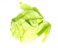 Crumpled paper ball Royalty Free Stock Image