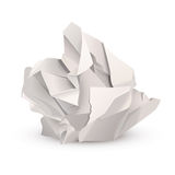 Crumpled paper ball Stock Photos