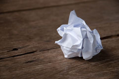 Crumpled paper ball. On the table Stock Image