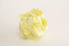 Crumpled paper ball. Over white background Royalty Free Stock Images