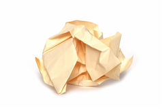 Crumpled paper ball. Isolated on white Royalty Free Stock Image