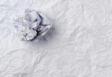 Crumpled paper ball Royalty Free Stock Images