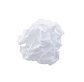 Crumpled Paper Ball Stock Photography