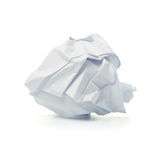 Crumpled paper ball Royalty Free Stock Photos