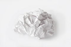 Crumpled paper ball. Image of crumpled paper ball on white background Royalty Free Stock Photography