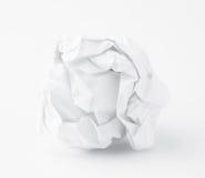 Crumpled paper ball Stock Photos