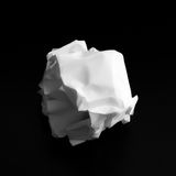 Crumpled paper ball isolated. On a black background Stock Photos