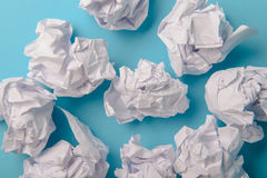 Crumpled paper ball Royalty Free Stock Photography