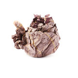 Crumpled paper ball isolated over white background Royalty Free Stock Photography