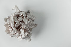 Crumpled paper ball isolated on white background. royalty free stock photo