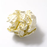 Crumpled paper ball. On a white background Royalty Free Stock Photography