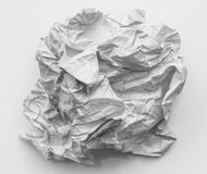 Crumpled paper ball Royalty Free Stock Photo