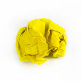 Crumpled Paper ball  on white background.  Royalty Free Stock Photos