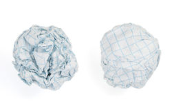 Crumpled paper ball on white background Royalty Free Stock Photography