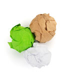 Crumpled paper ball on white background Royalty Free Stock Image