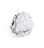 Crumpled paper ball on white background Stock Images