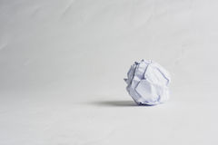Crumpled paper ball on the white background. Royalty Free Stock Photos