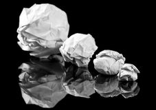 Crumpled paper balls Stock Photo