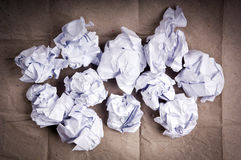 Crumpled Paper Balls Stock Images