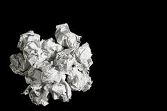 Crumpled paper balls Royalty Free Stock Images