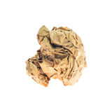 Crumpled paper balls isolated on white Stock Photo