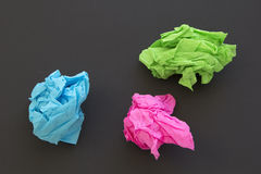 Crumpled paper Stock Photos
