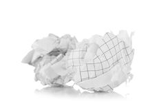 Crumpled paper balls Royalty Free Stock Photos