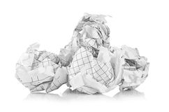 Crumpled paper balls Stock Image