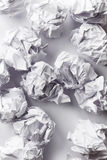 Crumpled paper balls Royalty Free Stock Photography