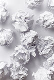 Crumpled paper balls Royalty Free Stock Photo