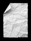 Crumpled paper on black. White crumpled paper on black background Stock Photo