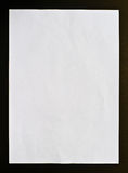 Crumpled paper  black isolation Royalty Free Stock Photo