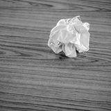 Crumpled paper black and white color tone style Royalty Free Stock Images