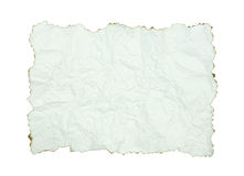 Crumpled paper with burnt edges Stock Photos