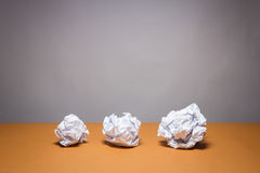 Crumpled paper. Business frustrations, Job stress and Failed exam concept. Stock Photography