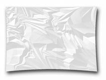 Crumpled paper ceated as illustrations. On write background Stock Photos