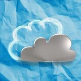 Crumpled paper Cloud Computing diagram Stock Image