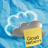 Crumpled paper Cloud Computing diagram as concept Stock Image