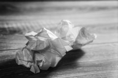 Crumpled paper. Crumpled white sheets of paper royalty free stock photos