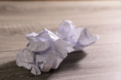 Crumpled paper. Crumpled white sheets of paper stock images