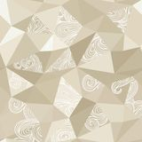 Crumpled paper with doodle stains seamless royalty free illustration