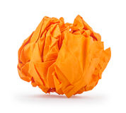 Crumpled paper in the form of fire Stock Photos