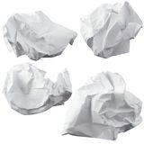 Crumpled paper. Four lump. The design elements Stock Image