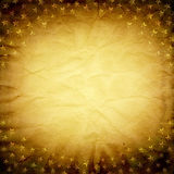 Crumpled paper frame with stars Stock Images